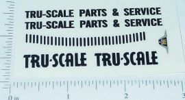Tru Scale Parts & Service Truck Sticker Set