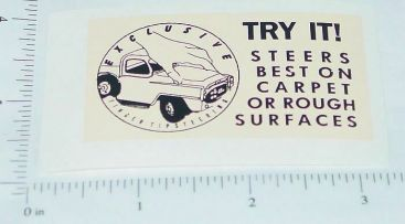 Tru Scale Touch Steering Roof Sticker Main Image
