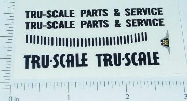Tru Scale Parts & Service Truck Sticker Set Main Image