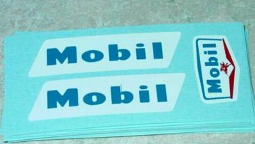 Tootsietoy Mobil Tanker Semi Sticker Set Main Image