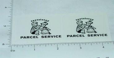 Tootsietoy Parcel Delivery Service Van Sticker Set Main Image