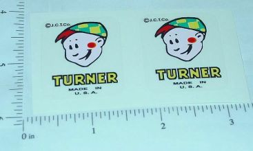 Turner Boy Logo Door Sticker Set Main Image