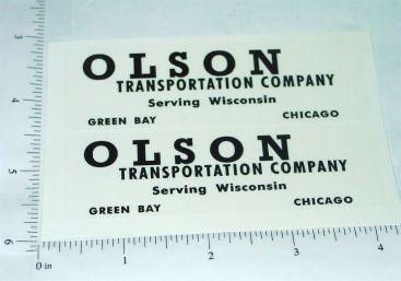 Tootsietoy Olson Transportation Company Semi Truck Stickers Main Image