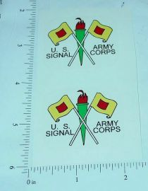 Turner Toys Army Signal Corps Sticker Set