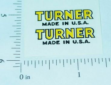 Turner Toys Small Text Logo Replacement Stickers Main Image
