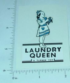 Turner Toys Laundry Queen Replacement Sticker