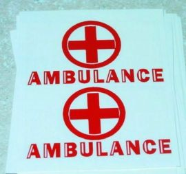 Turner Toys Amvulance Replacement Sticker Set