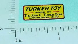 Turner Toys Replacement Chassis Sticker