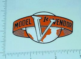 Victor One Cent Model V Vending Machine Sticker V-4
