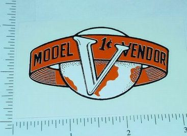 Victor One Cent Model V Vending Machine Sticker V-4 Main Image