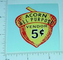 One Cent Red Topper Vending Machine Sticker V-54