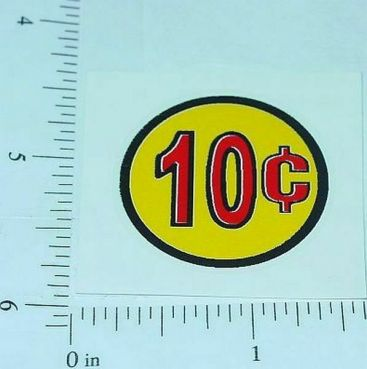 Three (3) Generic 10 Cent Circle Vend Stickers Main Image