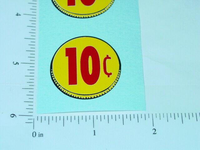 3 Three Generic 1 Cent Circle Vend Stickers    V-15-1