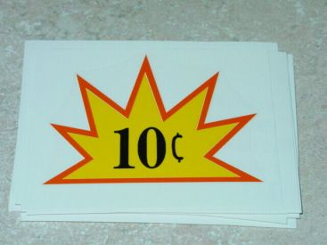 10 Cent Starburst Vending Machine Sticker Main Image