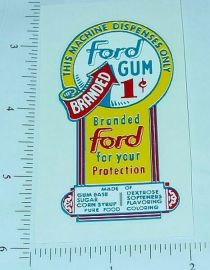 One Cent Ford Gumball Machine Sticker