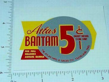 Atlas Bantam Yel/Sil 5 Cent Vend Sticker Main Image