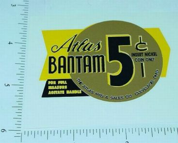 Atlas Bantam Yel/Gold 5 Cent Vending Sticker Main Image