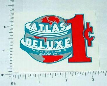 Atlas Deluxe 1 Cent Vending Machine Sticker Main Image