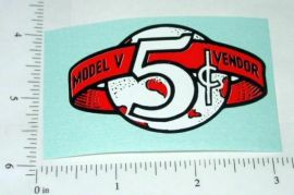 Victor Model V 5 Cent Vending Machine Sticker