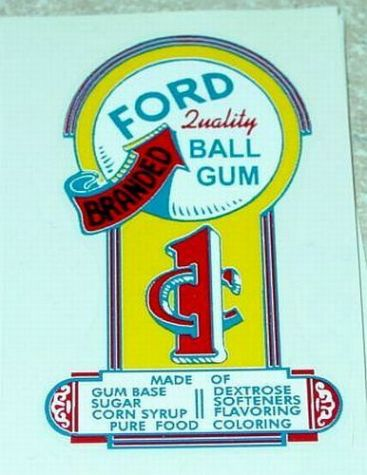 Ford Arrow Branded 1 Cent Gumball Sticker Main Image