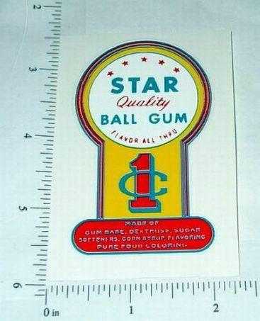 Star Brand Gum 1 Cent Vending Sticker Main Image