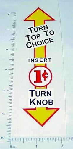 1 Cent Northwestern Package Gum Vending Sticker Main Image