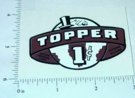 One Cent Brown Topper Vending Machine Sticker