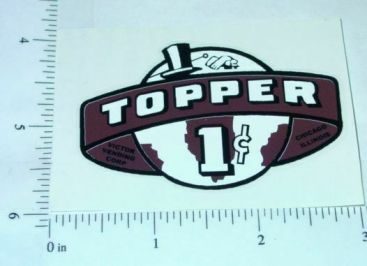 One Cent Brown Topper Vending Machine Sticker Main Image