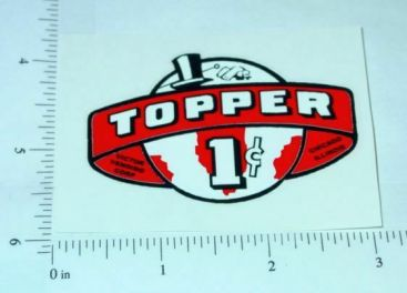 One Cent Red Topper Vending Machine Sticker Main Image