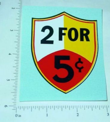 Regal 2 for 5c Vending Machine Sticker Main Image