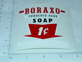 1c Boraxo Soap Vending Machine Sticker Set