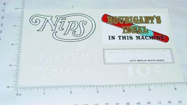 Nips of Houbigant's Ideal Perfum Coin Op Sticker Main Image