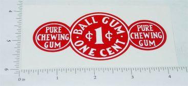 Advance Ball Gum 1c Vending Machine Replacement Sticker Main Image