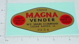 Magna Vender Gold Graphic Replacement Vending Machine Sticker