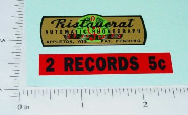 Ristaucrat Automatic Phonegraph Replacement Vending Sticker Set Main Image