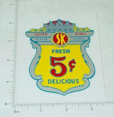 Silver King 5 Cent Vending Machine Sticker Main Image