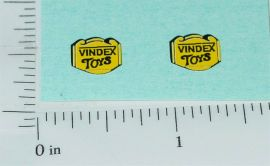 Pair Vindex Cast Iron Toy Replacement Stickers
