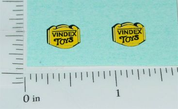 Pair Vindex Cast Iron Toy Replacement Stickers Main Image
