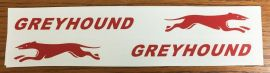 Greyhound Coaster Wagon Pull Toy Replacement Stickers