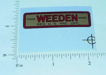Weeden Steam Engine Replacement Sticker Main Image