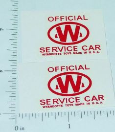 Wyandotte Service Car Wrecker Truck Stickers