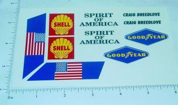 Wen Mac Spirit of America Land Speed Stickers Main Image