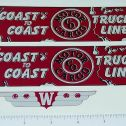 Wyandotte Coast to Coast Truck Lines Stickers Main Image