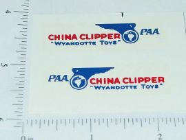 Wyandotte China Clipper Airplane Sticker Set