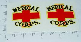 Wyandotte Medical Corps Truck Sticker Set