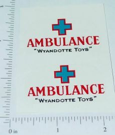 Wyandotte Ambulance Truck Red/Blue Sticker Set