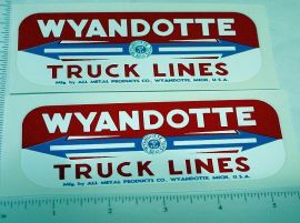 Wyandotte Truck Lines Side Panel Stickers