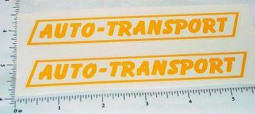 Pair Wyandotte Auto Transport Trailer Stickers Main Image