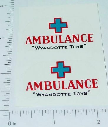 Wyandotte Ambulance Truck Red/Blue Sticker Set Main Image