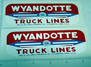 Pair Wyandotte Truck Lines Side Panel Stickers Main Image